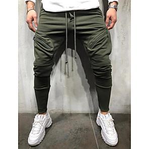 cheap Custom Shirts-Men's Sporty Sweatpants Pants - Solid Colored Black Army Green Gray US32 / UK32 / EU40 / US34 / UK34 / EU42