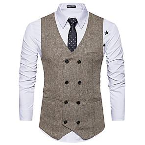 cheap Historical & Vintage Costumes-Gentleman Kingsman Victorian Steampunk Waistcoat Paisley Coletes Men's Costume Black with White / Black / Apricot Vintage Cosplay Party Halloween / Vest / Vest