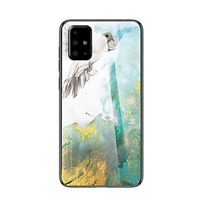 cheap Samsung Case-Marble Tempered Glass Phone Case For Samsung Galaxy A71 A51 A90 A80 A70 A60 A50 A40 A30 A20 A10 A20e A9 A7 2018 A8 Plus 2018 Shockproof Back Cover Soft TPU edge Protection