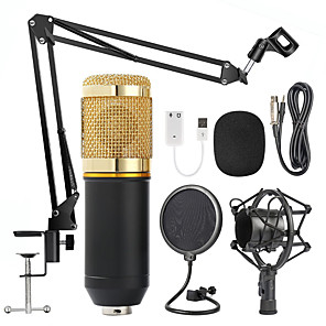 cheap Microphones-BM800 Professional Condenser Microphone 3.5mm with Cable karaoke Recording Microphone for KTV Karaoke Computer