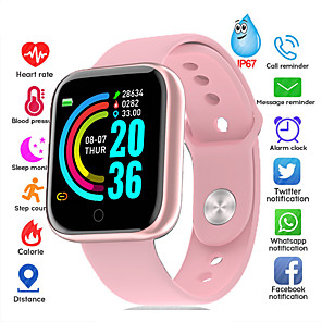 cheap Smartwatches-Smartwatch Digital Modern Style Sporty Silicone 30 m Water Resistant / Waterproof Heart Rate Monitor Bluetooth Digital Casual Outdoor - Black Pink Silver / Black