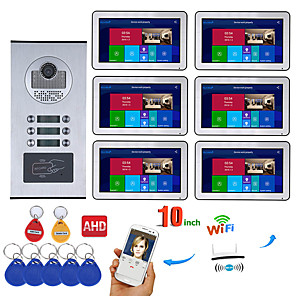 cheap Video Door Phone Systems-MOUNTAINONE SY1006BHID6 Wired & Wireless Built in out Speaker 7 inch Hands-free One to One video doorphone