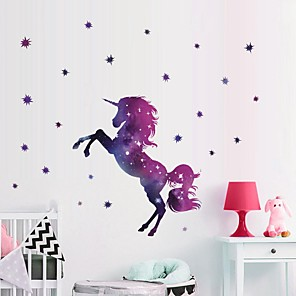 cheap Wall Stickers-Unicorn Decorative Wall Stickers Animals / Stars Nursery / Kids Room
