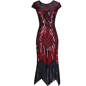 cheap Historical & Vintage Costumes-Dance Costumes Dress Tassel Paillette Women's Performance Sequined