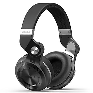 cheap On-ear & Over-ear Headphones-Bluedio T2 Plus Wireless Bluetooth 5.0 Stereo Headphone Support SD Card and FM Radio Headset with Mic High Bass Sounds Headphones