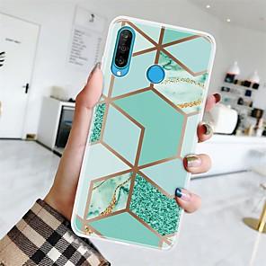 cheap Huawei Case-Case For Huawei P20 Pro/P20 lite/P30 Ultra-thin / Pattern Back Cover Geometric Pattern / Marble TPU For Huawei P30 Lite/P30 Pro/P Smart Z/P Smart Plus/P Smart 2019/P8 Lite 2017/P10 Lite