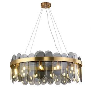 cheap Indoor Wall Lights-QIHengZhaoMing 10-Light 60 cm Chandelier Metal Glass Modern 110-120V / 220-240V