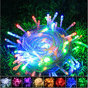 cheap LED String Lights-10m Flexible LED Light Strips / Light Sets / String Lights 100 LEDs SMD 0603 1pc Warm White / White / Red Christmas / New Year's Waterproof / Party / Decorative 220-240 V / 110-120 V
