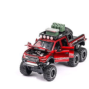 cheap Toy Cars-1:32 Toy Car Vehicles Chariot Transporter Truck Construction Truck Set SUV Climbing Car Glow Focus Toy Parent-Child Interaction Zinc Alloy Rubber Mini Car Vehicles Toys for Party Favor or Kids