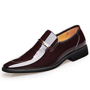 cheap Men's Slip-ons & Loafers-Men's Formal Shoes Spring & Summer Business Office & Career Loafers & Slip-Ons Walking Shoes Patent Leather Wear Proof Black / Brown