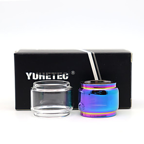 cheap Vapor Accessories-YUHETEC Replacement Fat Glass Tank for Vaporesso NRG SE Tank Smok tfv8 baby tfv12 baby prince Spirals vape pen 22 Moonshot 2PCS