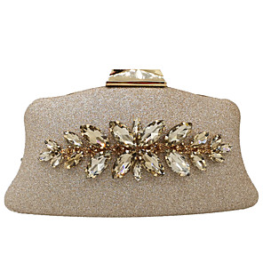 cheap Clutches & Evening Bags-Women's Crystals / Glitter Alloy Evening Bag Blushing Pink / Gold / Silver