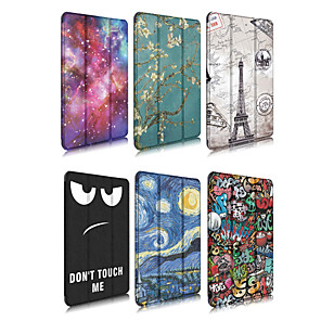 cheap iPad case-Case For Apple iPad 4/3/2 / iPad Mini 4 / iPad Pro 11'' Origami Full Body Cases Scenery / Cartoon PU Leather