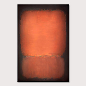 cheap Abstract Paintings-Oil Painting Hand Painted - Abstract Pop Art Modern Rolled Canvas