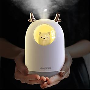 cheap Humidifiers-Humidificador USB lindo Pet ultrasnico niebla fra Aroma aire aceite difusor LED lmpara de luz nocturna humidificador