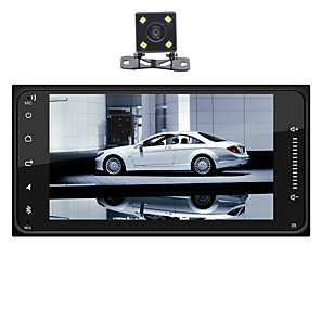 cheap Car Audio-SWM huanguan+4Led camera 7 inch 1 DIN Android 8.1 In-Dash Car DVD Player / Car MP5 Player / Car MP4 Player Touch Screen / GPS / Built-in Bluetooth for universal RCA / HDMI / FM2 Support MPEG / MPG