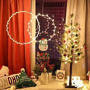 cheap LED Strip Lights-1.5m String Lights 50 LEDs 1 set Warm White Valentine's Day Christmas Decorative Christmas Wedding Decoration Curtain String Lights AA Batteries Powered