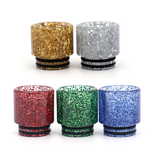 cheap Vapor Accessories-YUHETEC 810 Pearl Sequins Resin Drip Tip for TFV8 Big Baby/TFV12 Prince/Griffin 25/ijust 3/ELLO Duro/Pharaoh Mini/ammit 25/Creed RTA Atomizer 1PC