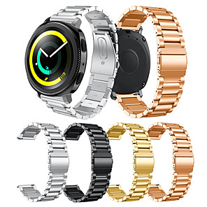 cheap Smartwatch Bands-Smartwatch Band for Samsung Gear Sport / S2 / S2 Classic Galaxy 42 / Active /Active2 Classic Buckle Stainless Steel Band Wrist Strap 20mm