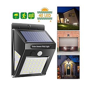 cheap Outdoor Wall Lights-Solar LED Wall Lamp IP65 Waterproof Three-Sided Lighting Motion Sensor