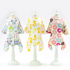 cheap Dog Clothes-Cat Dog Shirt / T-Shirt Dog Clothes Light Yellow White Yellow Costume Baby Pet Small Dog Cotton Cosplay Wedding S M L XL XXL