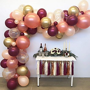 cheap Balloons-Confetti Balloons  Garland Kit  for Baby Shower 1st Birthday Party Wedding Party - 4 Colors