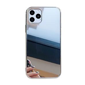 رخيصةأون أغطية أيفون-غطاء من أجل Apple اي فون 11 / iPhone 11 Pro / iPhone 11 Pro Max ضد الصدمات / مرآة غطاء خلفي لون سادة الكمبيوتر الشخصي