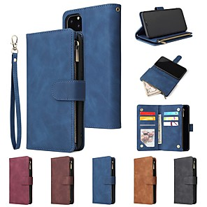 cheap iPhone Cases-Case For iPhone 11 / iPhone 11 Pro / iPhone 11 Pro Max Wallet / Card Holder / Shockproof Multi-Function Pocket PU Leather for iPhone XS Max / XR / XS / X / iPhone 8 Plus /  iPhone 7 Plus / 6s Plus