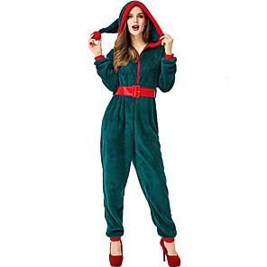 povoljno Santa odijela & Božićna haljina-Mrs.Claus Izgledi Žene Odrasli Kostimirana zabava Božić Božić Coral runo Pojas