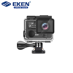 cheap Sports Action Cameras-EKEN H5S Plus Action Camera HD 4K 30fps EIS with Ambarella A12 chip inside 30m waterproof 2.0' touch Screen sport camera