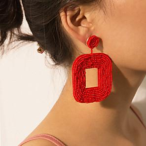 cheap Earrings-Women's Drop Earrings Earrings Vintage Style Joy Earrings Jewelry Black / White / Red For Party Gift Daily Street Club 1 Pair