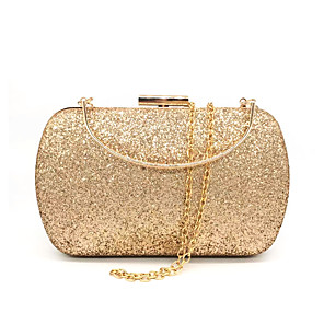 cheap Women's Heels-Women's Bags Synthetic Evening Bag Glitter Sequin for Wedding / Party / Event / Party Black / Fuchsia / Gold / Royal Blue / Silver / Wedding Bags