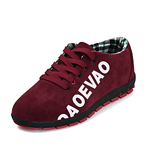 cheap Men's Sneakers-Men's Comfort Shoes Canvas Fall / Spring & Summer Casual Sneakers Walking Shoes Breathable Black / Red / Blue
