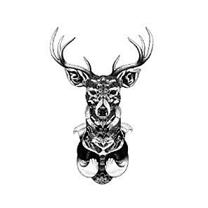 cheap Tattoo Stickers-1 pcs Temporary Tattoos Water Resistant / Disposable Face / Body Water-Transfer Sticker Tattoo Stickers