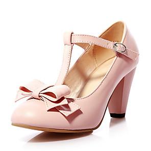 cheap Women's Heels-Women's Heels Chunky Heel PU Spring & Summer Black / Green / Pink