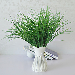 cheap Artificial Plants-Simulation Spring Grass High-end Fake Flower Water Grass V-shaped Grass Green Planting Flower Arrangement With Grass