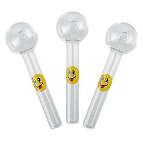 cheap Vapor Accessories-YUHETEC Smiling Face Shisha Hookah Pipes Glass Tube 2PCS