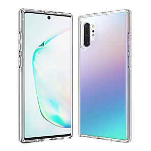 cheap Cell Phones-Case For Samsung Galaxy Galaxy Note 10 / Galaxy Note 10 Plus Shockproof / Transparent Back Cover Transparent TPU