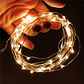 cheap LED String Lights-1pcs 10m LED String Lights 100leds Fairy Lights Lamp Holiday Garland Light USB For Christmas Wedding Indoor Decoration