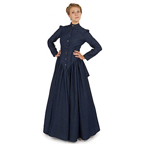 cheap Historical & Vintage Costumes-Duchess Victorian Ball Gown 1910s Edwardian Dress Party Costume Women's Costume Dusty Lavender / Purple / Burgundy Vintage Cosplay Masquerade Long Sleeve Floor Length Long Length Ball Gown Plus Size