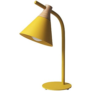 cheap Desk Lamps-Table Lamp / Desk Lamp / Reading Light Ambient Lamps / Adorable Modern Contemporary / Nordic Style For Study Room / Office / Girls Room Metal 200-240V / 110-120V Yellow / Blushing Pink / Grey