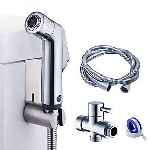 cheap Bathroom Gadgets-Bidet Faucet ChromeToilet Handheld bidet Sprayer Self-Cleaning Contemporary / Single Handle One Hole Washlet