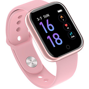 cheap Smartwatches-Couple's Sport Watch Automatic self-winding Stylish Silicone Black / Pink 30 m Heart Rate Monitor Bluetooth Smart Digital Fashion - Black Pink Silver