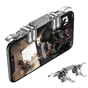 cheap Smartphone Game Accessories-ROVTOP METAL K19 MOBILE PHONE GAMING TRIGGER FOR PUBG MOBILE GAMEPAD FIRE BUTTON AIM KEY L1R1 GAMING SHOOTER PUBG CONTROLLER Z2
