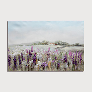 cheap Abstract Paintings-Oil Painting Hand Painted Abstract Landscape Modern Stretched Canvas With Stretched Frame