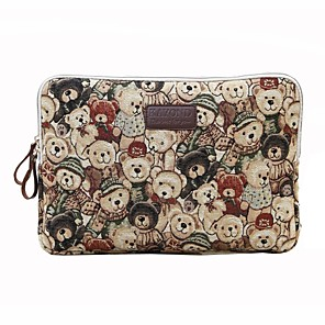 cheap Sleeves,Cases & Covers-11.6 12 13.3 14.1 15.6 inch Universal Animal print Canvas Water-resistant Shock Proof Laptop Sleeve Case Bag for Macbook/Surface/Xiaomi/HP/Dell/Samsung/Sony Etc