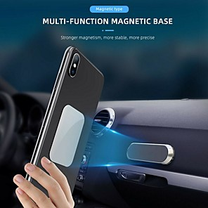 cheap Car Body Decoration & Protection-Mini Universal Magnetic Car Phone Holder Magnet Mount Support Smartphone Voiture 360 Telefoonhouder Auto Suporte Celular Carro