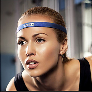 cheap Fitness Gear & Accessories-AOLIKES Sweatband HeadBand 1 pcs Sports Silicon Nylon Exercise & Fitness Gym Workout Workout Durable Sweat Control For Men Women