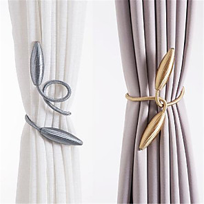 cheap Curtains Drapes-DIY twist and twist optional buckle tie new creative curtain tie tie rope 2 pack