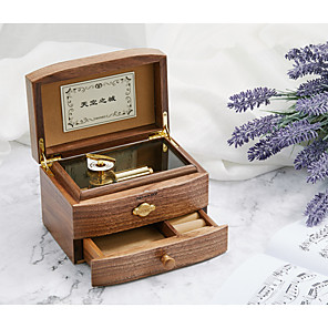 cheap Music Boxes-RHYMES Music Box Wooden Music Box Antique Music Box Music Valentine's Day Unique Wooden Women's Unisex Girls' Kid's Adults Teen 1 pcs Graduation Gifts Toy Gift